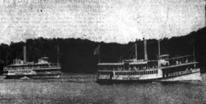 The R.C. Reynolds (left) and the Julia Safford in an undated photo